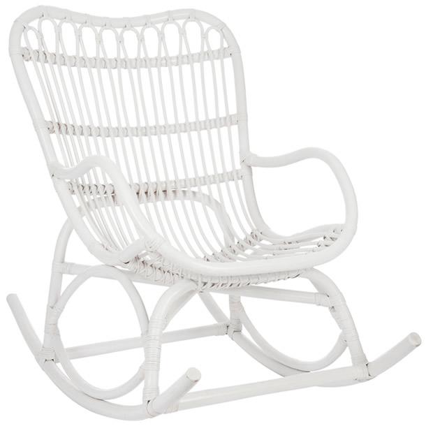 FAUTEUIL ROCKING CHAIR BLANC HOMA Café Boutique - Fauteuil rocking chair