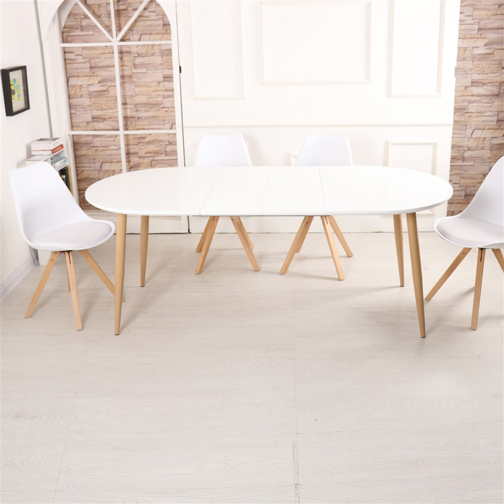 Table Salle A Manger Extensible Blanc